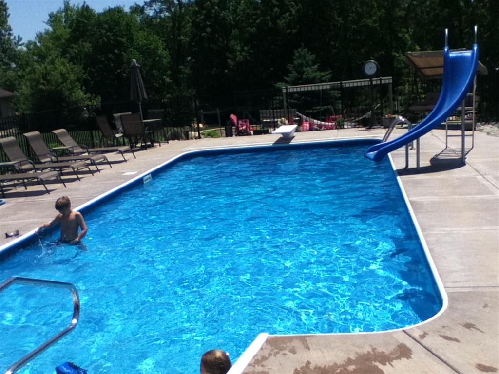 Pics For Inground Pools With Diving Board And Slide